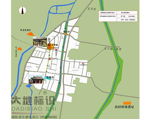 开封市朱仙镇旅游线路导游图